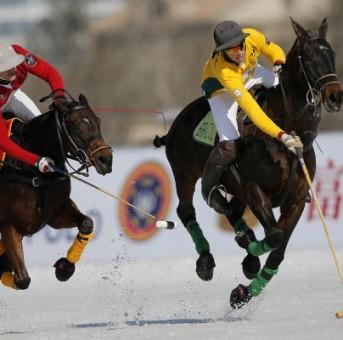 Brasileiros participam da St. Moritz Snow Polo